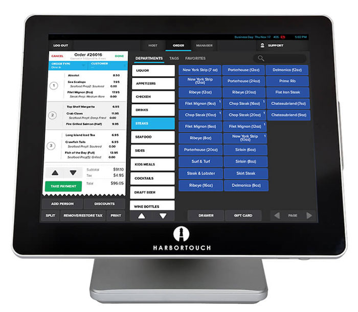 Harbortouch Bar and Restaurant Management System