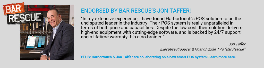 Jon Taffer of Bar Rescue Recommends Harbortouch POS Solution
